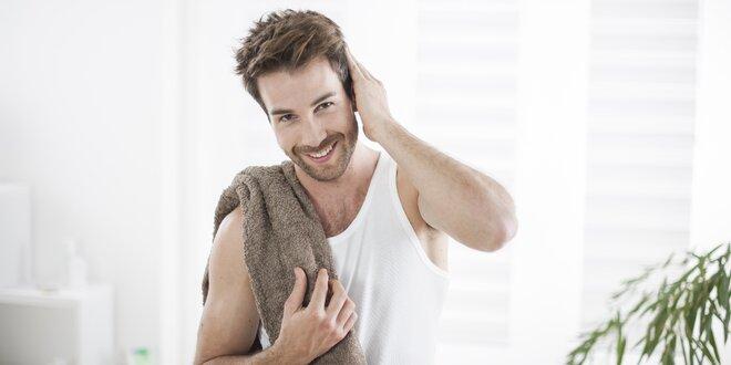 Kosmetické ošetření pleti pro muže s masáží