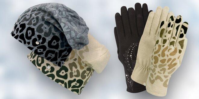 Elegantní dámské rukavice a rasta čepice