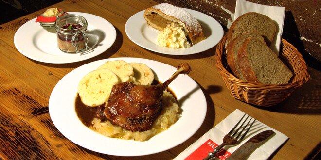 3chodové menu pro milovníky kachního masa