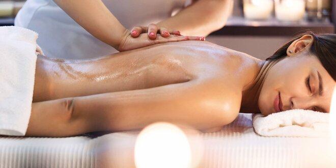 Balíček masáží šíje, zad, ramen a plosek nohou