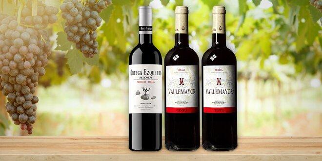 Červená vína z vyhlášené španělské oblasti Rioja