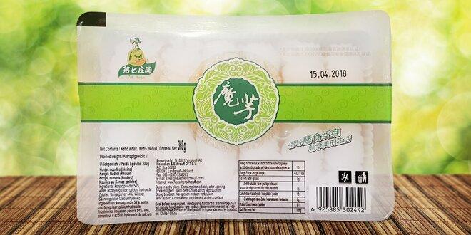 4 balíčky nudlí Konjac: bezlepkové, veganské