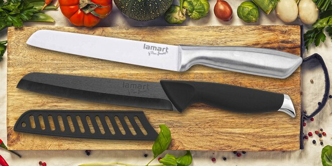 Kuchyňské nože Lamart s keramickým povrchem