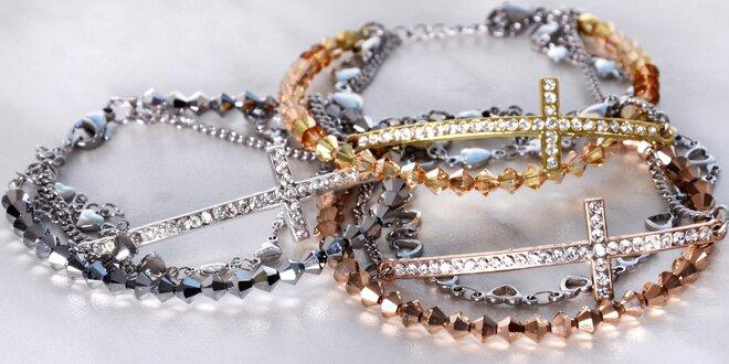 Náramek s krystaly Swarovski 3 v 1