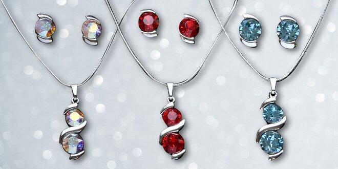 Náhrdelník a náušnice s krystaly Swarovski