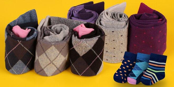 Barevné ponožky Rosenbull pro celou rodinu