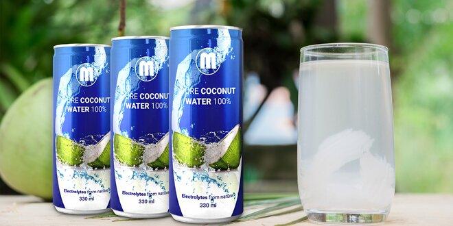 100% přírodní kokosová voda - zdravé osvěžení