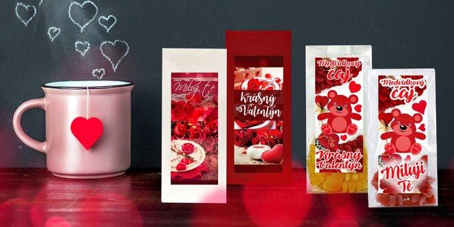 Valentýnské čaje: medvídkové a ovocné sypané