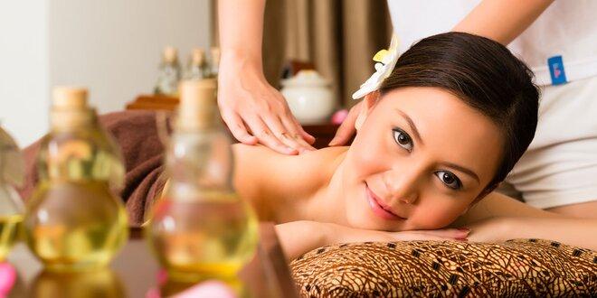 Thajská aromatická masáž horkým olejem