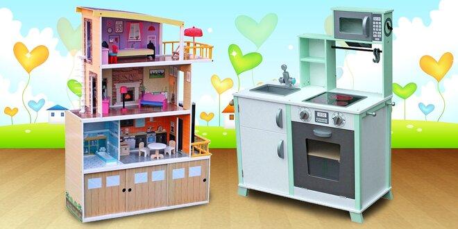 Domečky pro panenky, kuchyňky nebo doktorský set