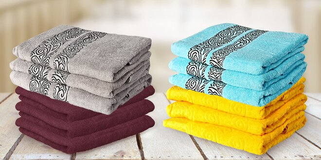Bavlněné ručníky a osušky vyrobené v Egyptě