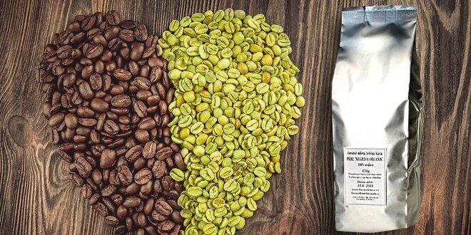 450 g jemně mleté zelené kávy pro zdraví a hubnutí