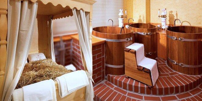 Lenošení ve vířivce, sauně i pivní lázni pro dva