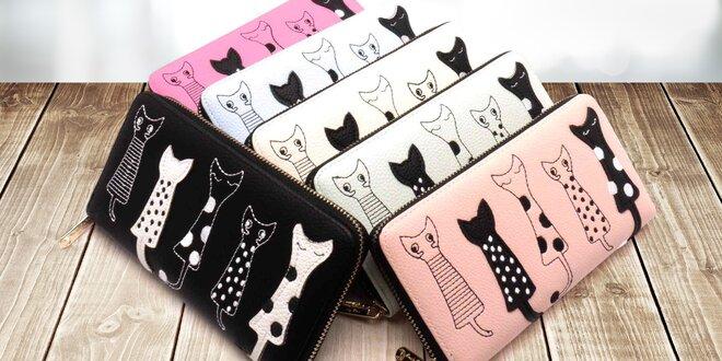 Dámská peněženka s motivem kočky: v 6 barvách