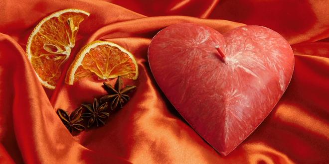 Svíčky ve tvaru srdce české ruční výroby