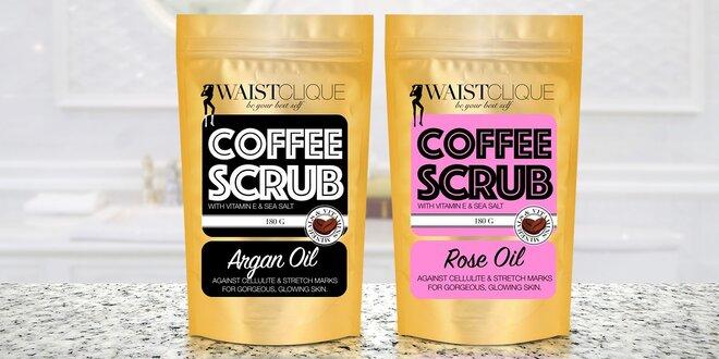 Kávový peeling: s arganovým nebo růžovým olejem