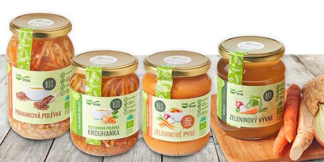 BIO potraviny plné vitamínů: polévky, vývary i pyré