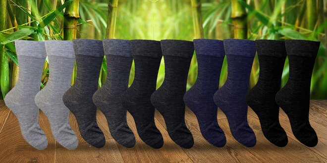 10 párů vysokých pánských bambusových ponožek