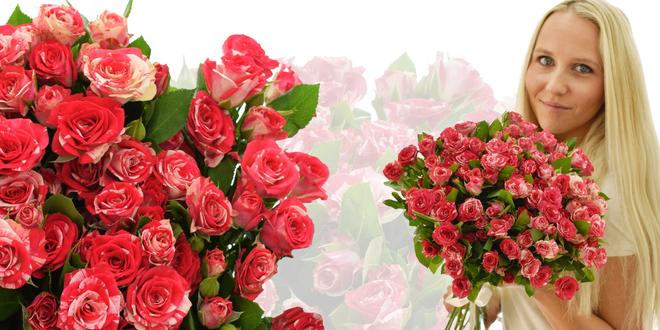 Kytice 20 prémiových růží Fireworks s až 100 květy
