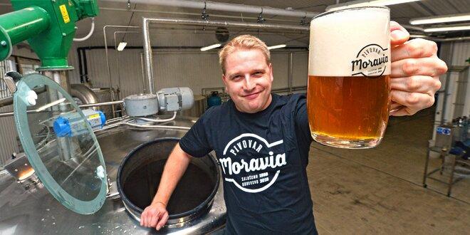 Prohlídka pivovaru Moravia, ochutnávka a dárek