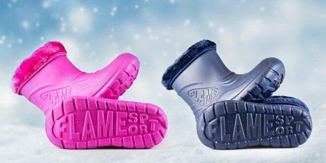 Dětské zateplené boty FLAMEshoes ze Slovenska