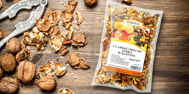 Vlašské ořechy na zobání i pečení: sklizeň 2017