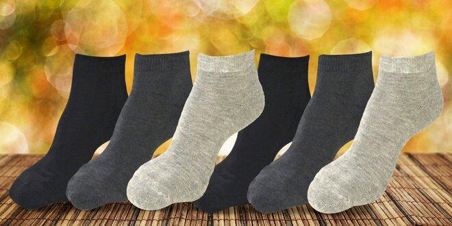 Balíček 6 párů bambusových polotermo ponožek