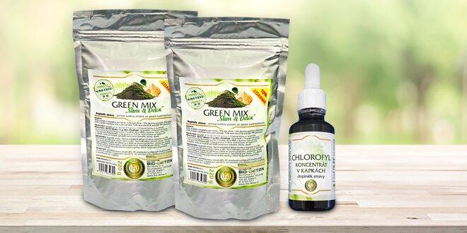 Směs superpotravin Green Mix a chlorofyl
