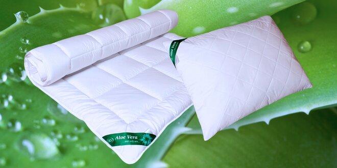 Celoroční i zimní přikrývky a polštáře s Aloe Vera