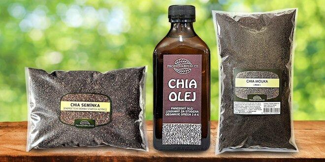 Chia semínka, olej i mouka pro zdraví celé rodiny