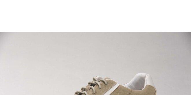 Dámské béžové semišové tenisky Head s bílými detaily