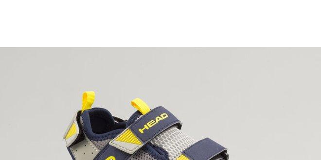 Dámské modro-žluté boty s šedými detaily Head