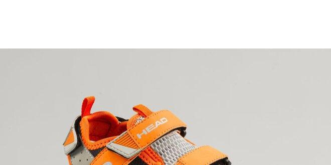 Dětské oranžové boty s šedými detaily Head