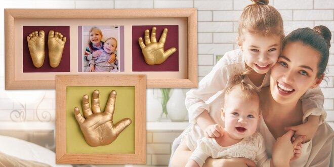 3D odlévací sady pro vzpomínky na vaše miminko
