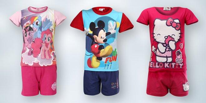 Dětská bavlněná pyžama s Disney motivy