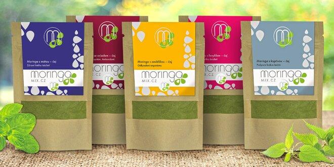Čajové směsi s moringou a bylinkami plné živin