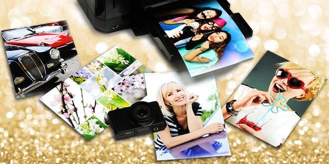 Tisk deseti velkoplošných fotografií A4 nebo A3