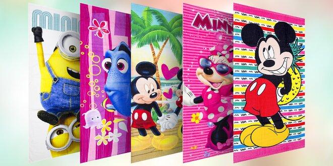 Dětské osušky s Mimoni, Mickey, Minnie a Dory