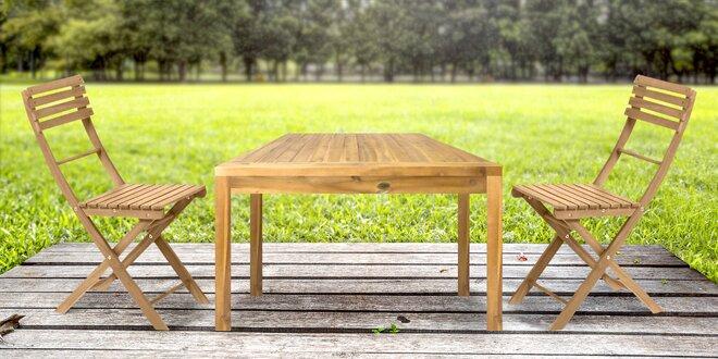 Zahradní nábytek z exotického dřeva akácie