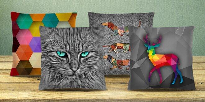 Polštáře s designovými povlaky z řady Animals
