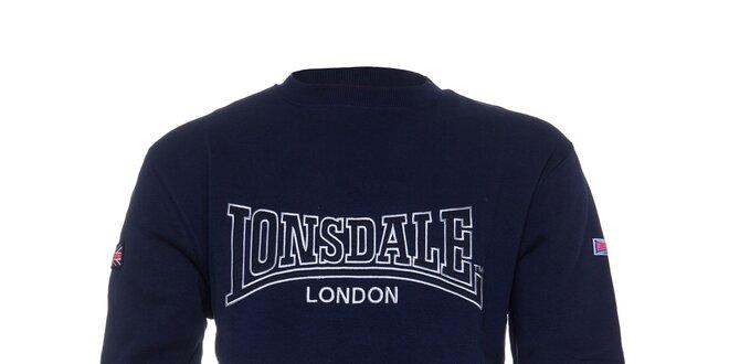 51c6d984a80 Pánská tmavě modrá mikina Lonsdale s vyšívaným logem