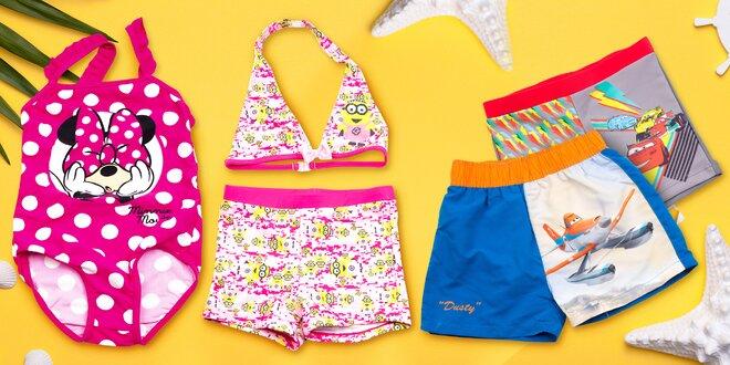 Dětské plavky s oblíbenými pohádkovými motivy  09ce47c3ff