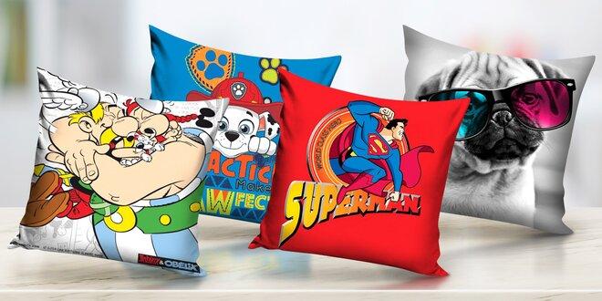 Povlaky na polštářky s motivy filmů i zvířat