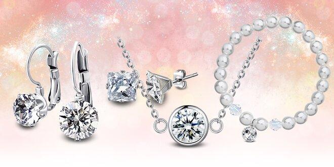 Ocelové šperky Crystal Collection Swarovski®