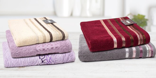 Kolekce bavlněných froté osušek a ručníků