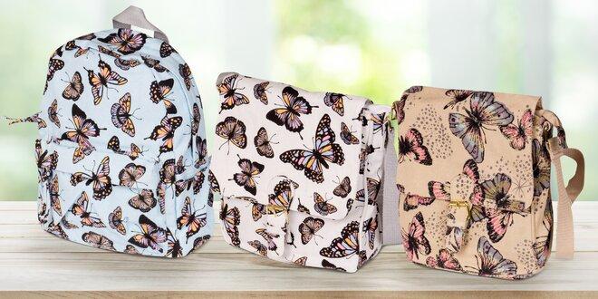 Dámské plátěné tašky a batohy s potiskem