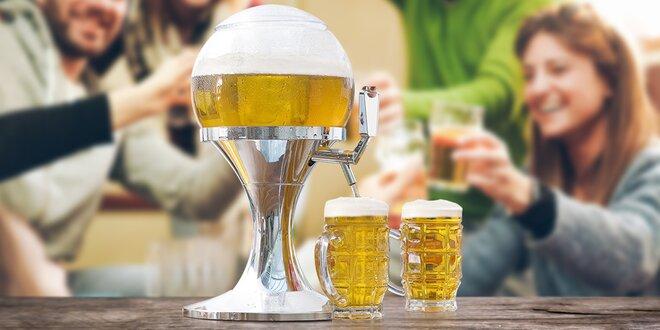 Pivní balon na chlazení a servírování nápojů