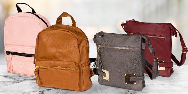 Dámské kabelky a batůžky z koženky a textilu  68ad3f8042