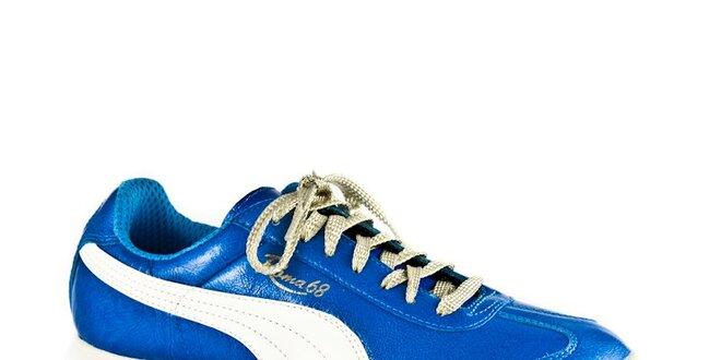 ec4b489412a Dámské modro-bílé tenisky Puma Roma 68 Italia Met Blue