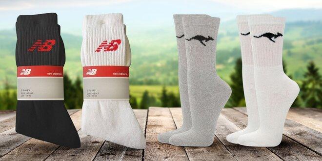 3 páry značkových sportovních ponožek